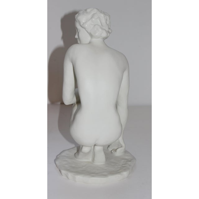 """Rosenthal Vintage Rosenthal Sculpture """"Die Hockende"""" Fritz Klimsch Large Size Model For Sale - Image 4 of 13"""