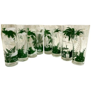 Tropical Highball Glasses - Set of 8