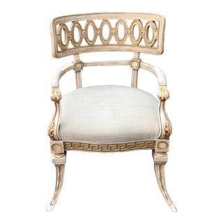 Quatrain Swedish Empire Designer Armchair