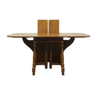 20th Century Traditional Ethan Allen Heirloom Nutmeg Maple Drop Leaf Dining Table For Sale