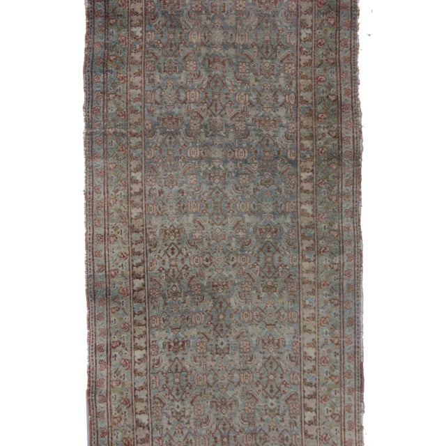 "Hand Knotted Semi Antique Bidjar Runner - 16'6"" x 3'5"" - Image 3 of 3"