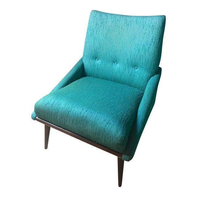 Teal Kroehler Slipper Chair - Image 1 of 8