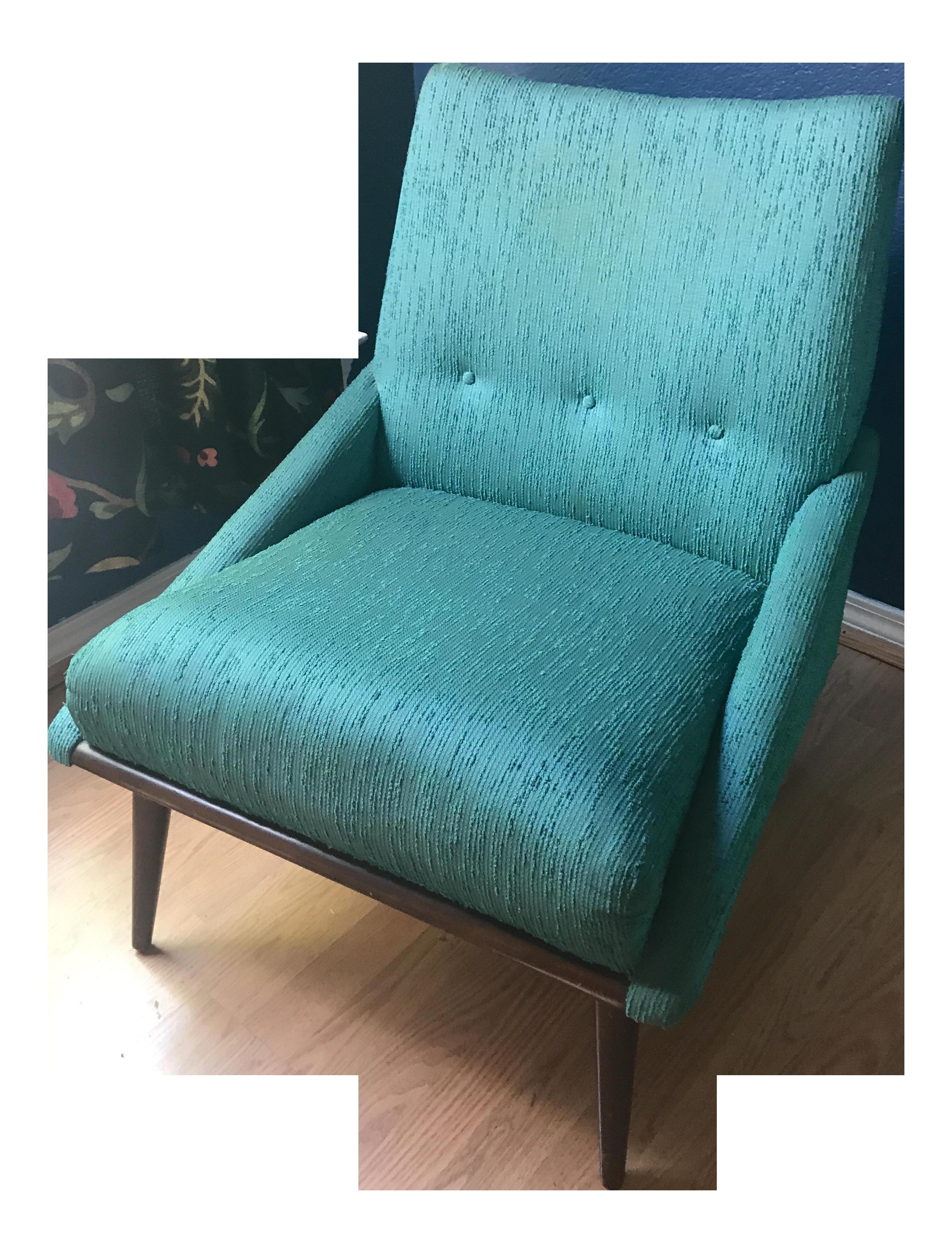 Teal Kroehler Slipper Chair