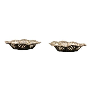 19th Century Silver Baskets - a Pair For Sale