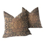 "Image of Traditional Ralph Lauren ""Cassis"" Persian Rug Design Pillows - a Pair For Sale"