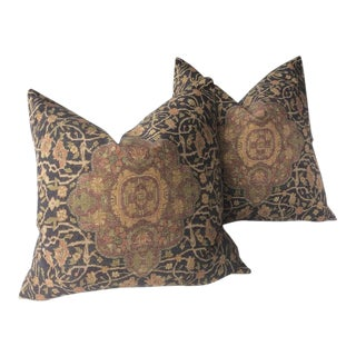 "Traditional Ralph Lauren ""Cassis"" Persian Rug Design Pillows - a Pair For Sale"