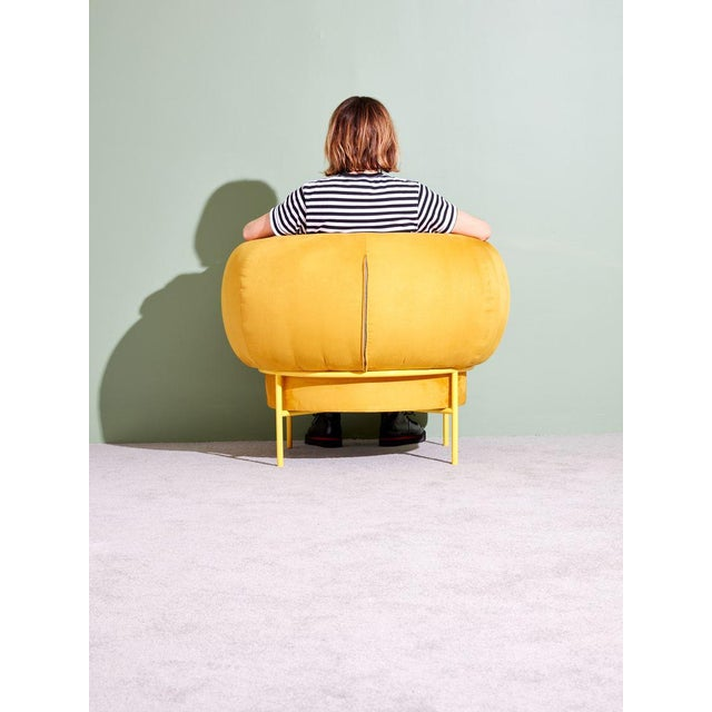 Contemporary Michael Felix Madda Chair in Yellow For Sale - Image 3 of 6