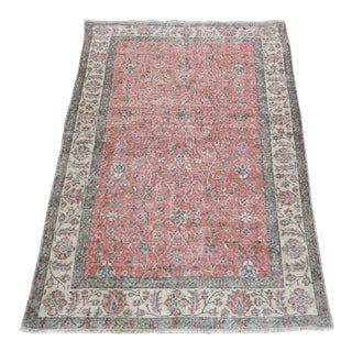 Distressed Vintage Handknotted Turkish Rug -6' 11'' X 3' 9'' For Sale