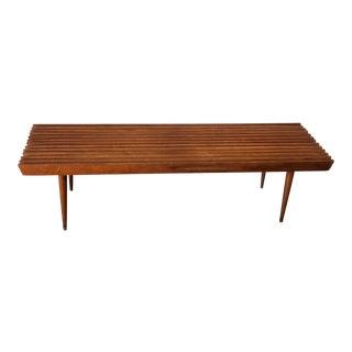 1960s Danish Modern Nasco Slat Bench For Sale