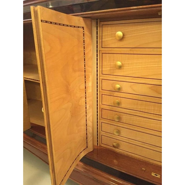 Jules Leleu Style French Art Deco Six-Door Buffet For Sale - Image 10 of 10
