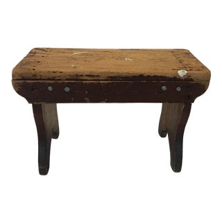 Rustic Old Upstate New York Farm Stool