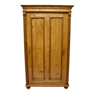 Pine One Door Wardrobe or Storage Cupboard For Sale