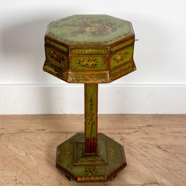 English Regency Painted Sewing Box, Circa 1810 For Sale In San Francisco - Image 6 of 8