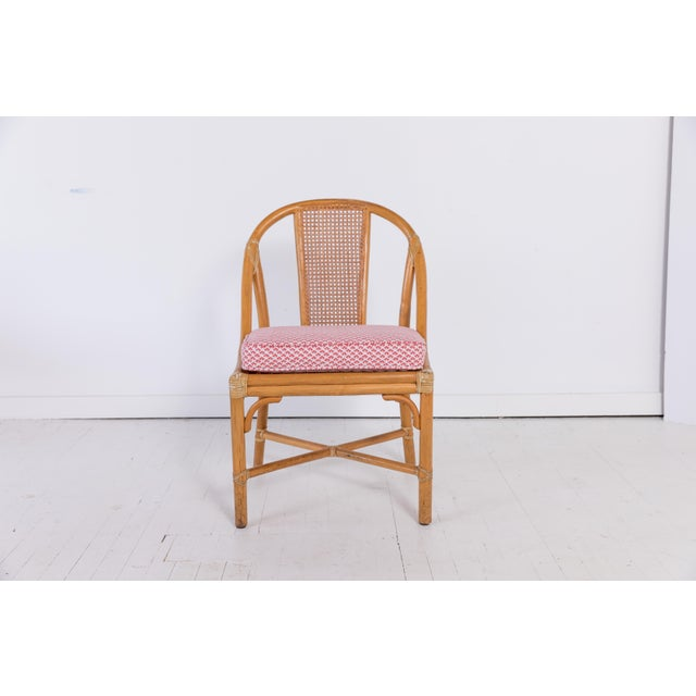 1960s Vintage McGuire Furniture Rattan Dining Chairs- Set of 6 For Sale In Greensboro - Image 6 of 13