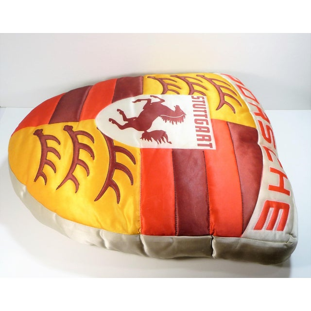 Vintage Porsche Crest Decorative Pillow For Sale - Image 5 of 8
