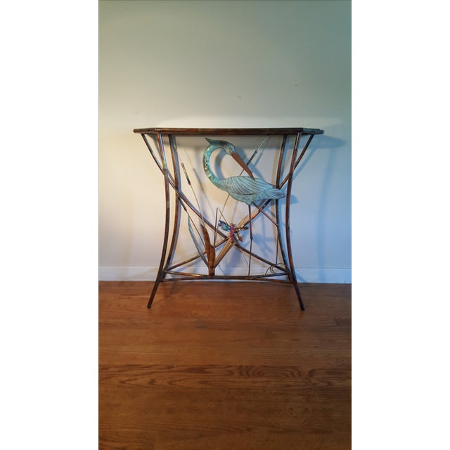 Mid-Century Modern Jere Style Brass Console - Image 5 of 8
