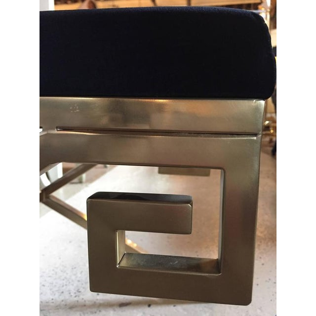 """Hollywood Regency Greek Key """"X"""" Benches - a Pair - Image 6 of 6"""