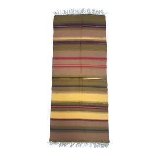 "Mid-Century Handmade Raanu Rug, Finland - 1'10"" x 4'5"" For Sale"