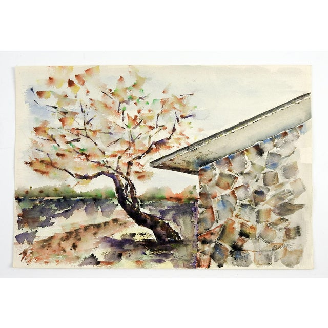 Modernist Rock House Landscape Painting For Sale - Image 4 of 4