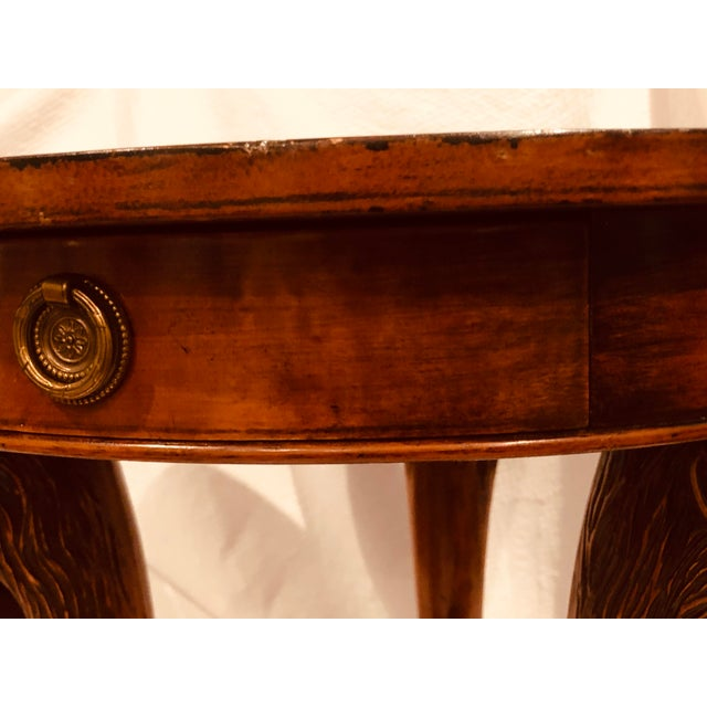 Wood Final Call 19th Century Baroque Lion Head/Foot Mahogany Side Table - to Be Delisted 5/27 For Sale - Image 7 of 10