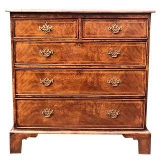 Antique English Burl Walnut Chest of Drawers C.1830 For Sale
