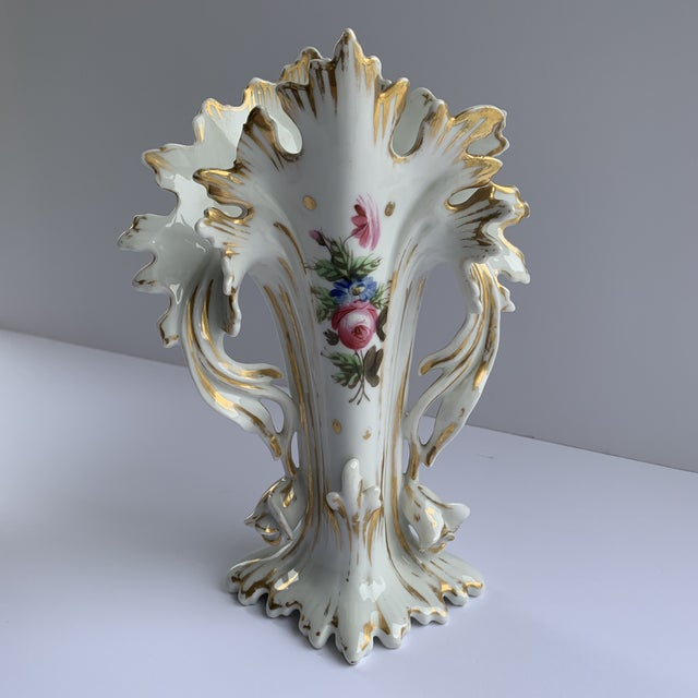 Antique Flower Vases - a Pair For Sale - Image 4 of 8