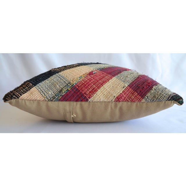 """Dimension: 16"""" x 16"""" Material : Cotton cotton. Made from vintage or antique Turkish kilim rug. Back side cotton with..."""
