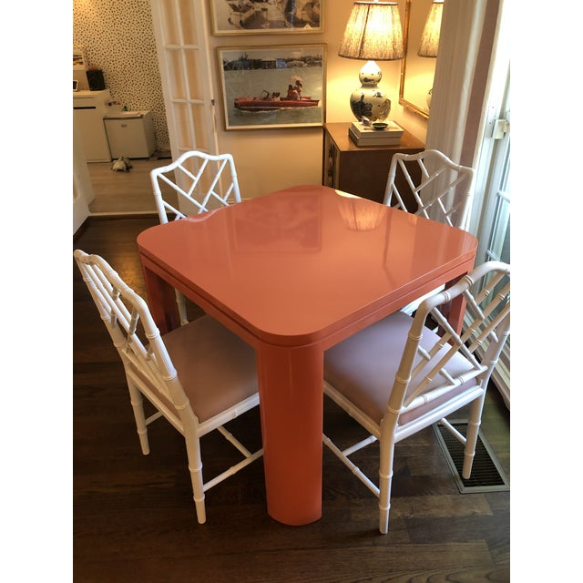 Custom Mid Century Modern Game Table For Sale - Image 4 of 6