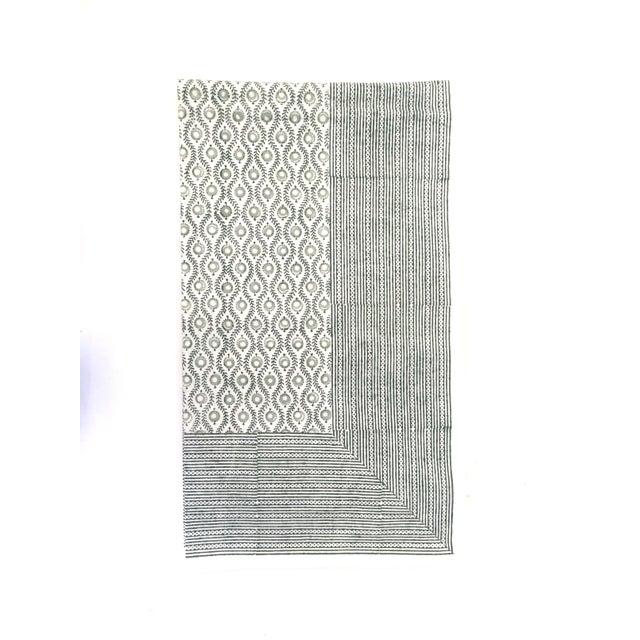 European Handmade Block Print Tablecloth - Image 3 of 7