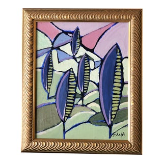 """Original Contemporary Stephen Heigh Abstract Painting """"Parkland"""" Framed For Sale"""