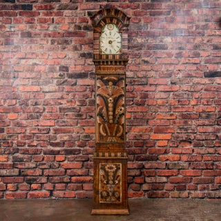 Antique Swedish Allmoge Painted Grandfather Clock Preview