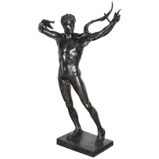 """Large Original Bronze Fully Nude Male """"Sophocles"""" by John Talbott Donoghue For Sale"""