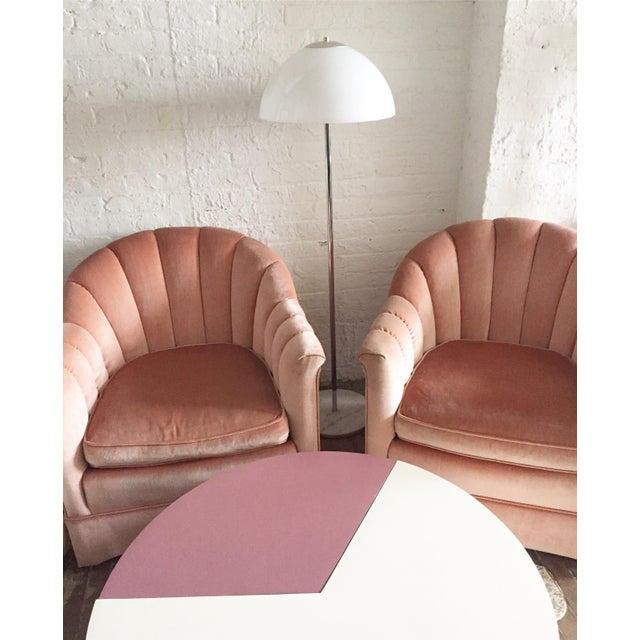 Chrome Floor Lamp with White Glass Mushroom Shade - Image 9 of 10