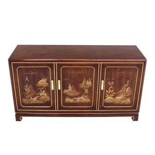 John Widdicomb Oriental Three Doors Credenza or Dresser For Sale