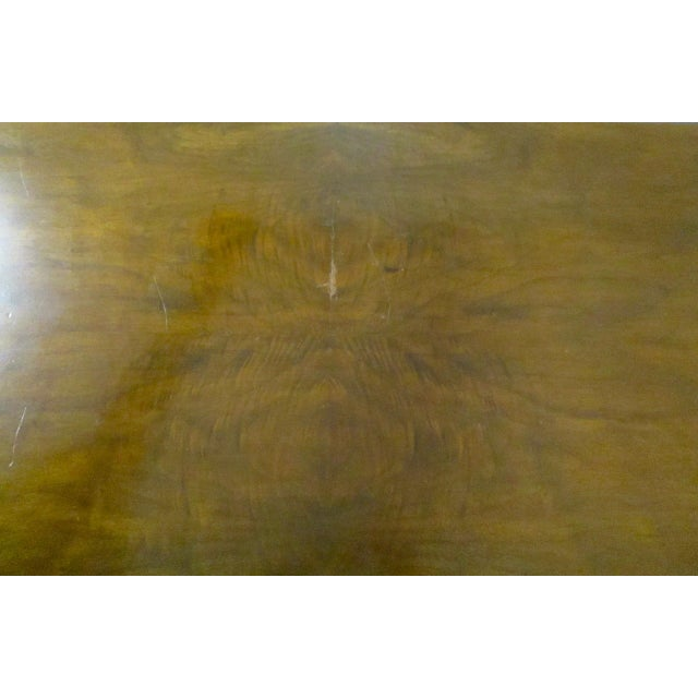 Brown Expandable Walnut Library Table For Sale - Image 8 of 8