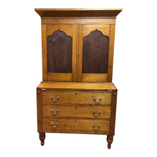 Antique Southern Pine Secretary For Sale