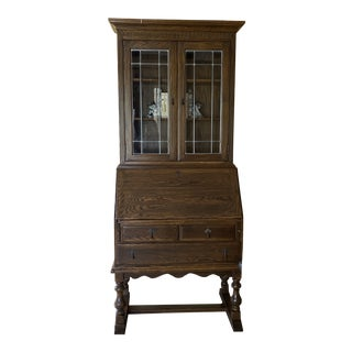 Ethan Allen Royal Charter Oak Secretary Desk For Sale
