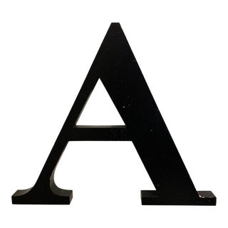 Vintage Metal Letter A For Sale
