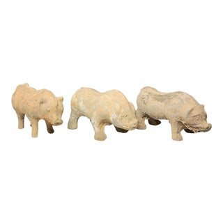 Mid 20th Century Chinese Han Dynasty Style Animal Figures - Set of 3 For Sale
