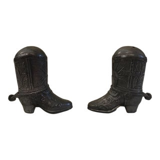 Vintage Cowboy Boot Salt & Pepper Shakers - A Pair
