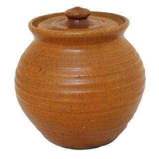 Pumpkin Glazed Bean Pot For Sale
