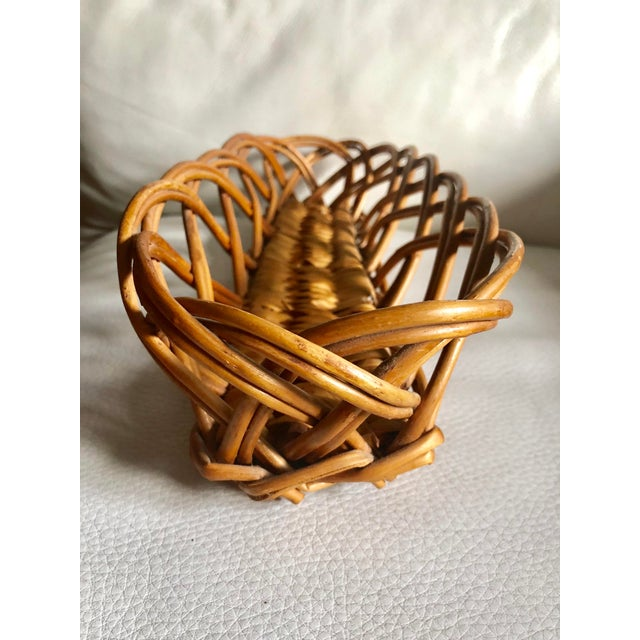 French Vintage Baguette Basket For Sale - Image 4 of 6