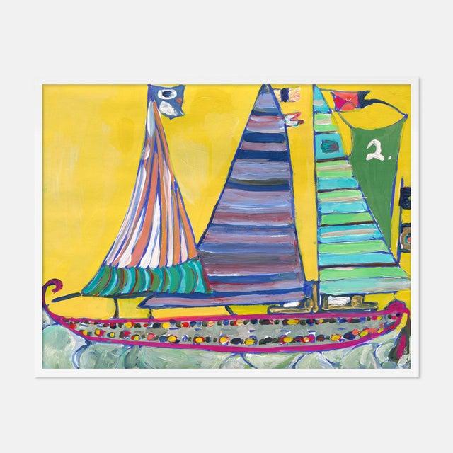SB Bahamas by Lulu DK in White Framed Paper, Medium Art Print For Sale - Image 4 of 4