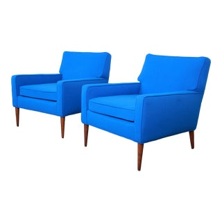 Paul McCobb for Directional Model 3022 Lounge Chairs, Newly Reupholstered - a Pair For Sale