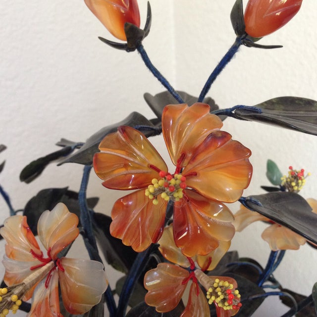 Traditional Vintage Flowering Jade Tree in Cloisonné Planter For Sale - Image 3 of 6