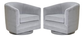 Image of Dove Gray Club Chairs