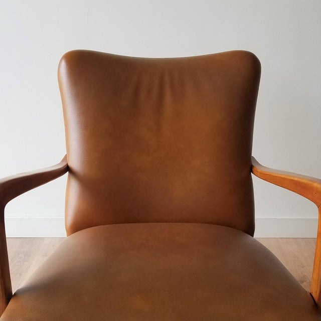 Mid 20th Century Italian Mid-Century Modern Leather Lounge Chairs With Rivets - a Pair For Sale - Image 11 of 13