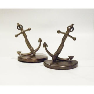 1960s Vintage Anchor Nautical Solid Brass Vintage Book Ends - a Pair Preview