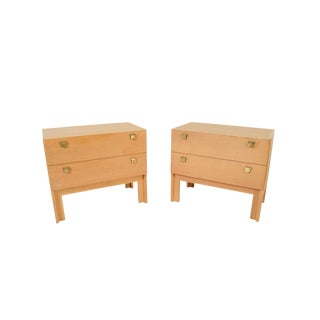 1960s Danish Modern HG Furniture Hansen Guldborg Oak Nightstands - a Pair For Sale