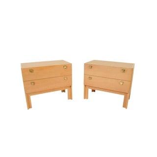 1960s Danish Modern HG Furniture Hansen Guldborg Oak Nightstands - a Pair For Sale